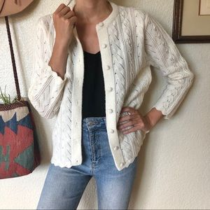 Vintage 60s/70s Woven Knit Sweet Sweater